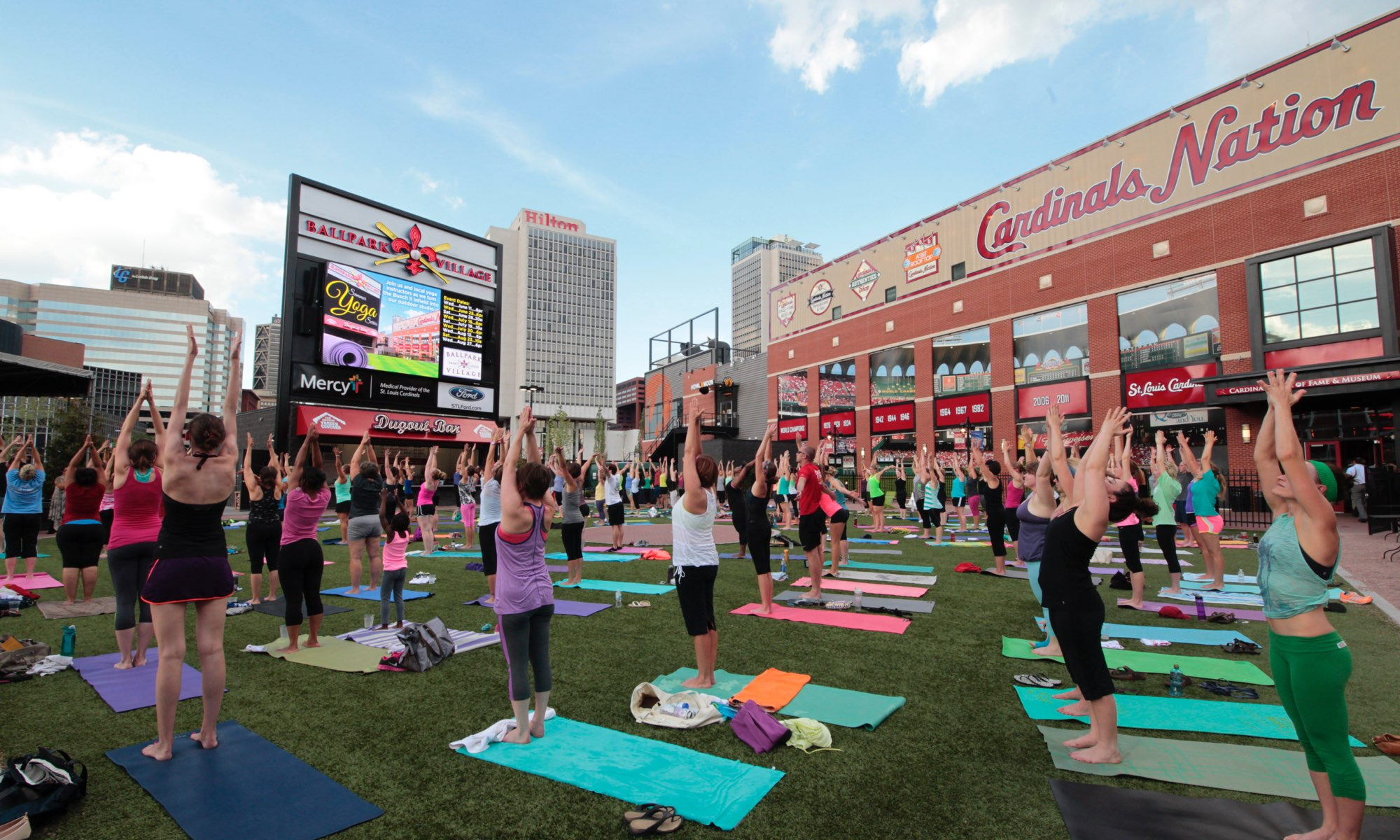 Ballpark Village: Busch II Yoga
