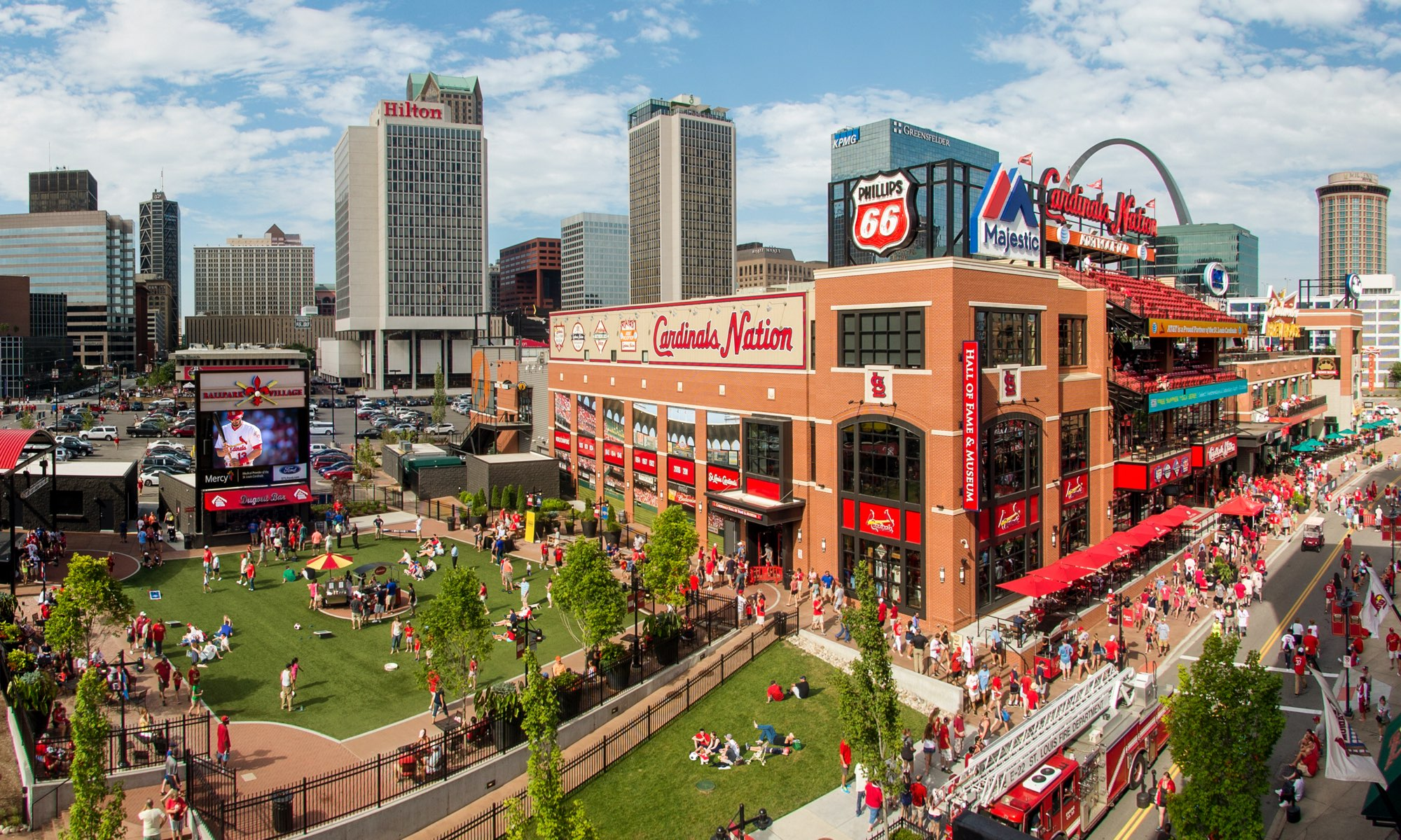 Ballpark Village: Busch II Infield & Events Plaza